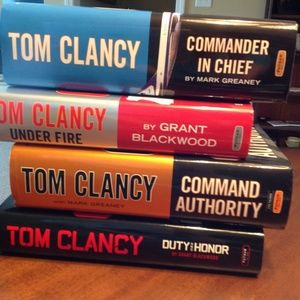 Tom Clancy collection of books